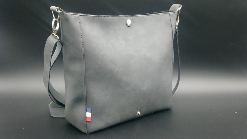 sac bandouliere femme gris