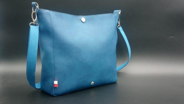 sac bandoulière femme bleu