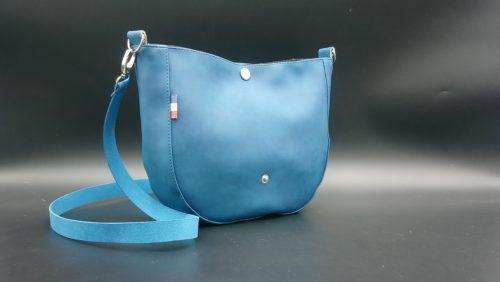 mini besace bleue