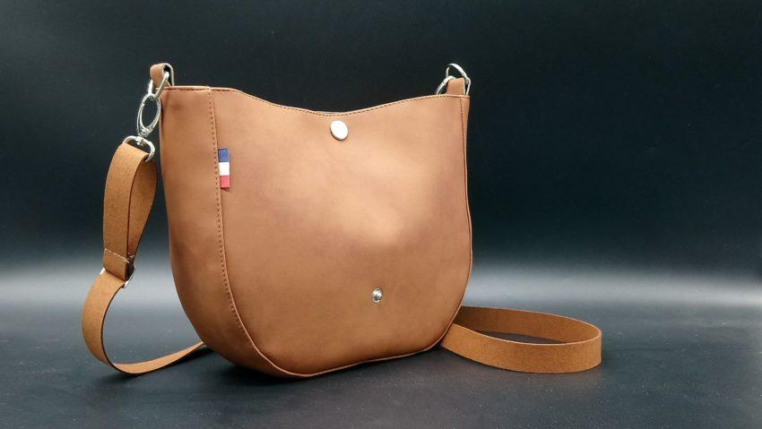 sac besace femme camel