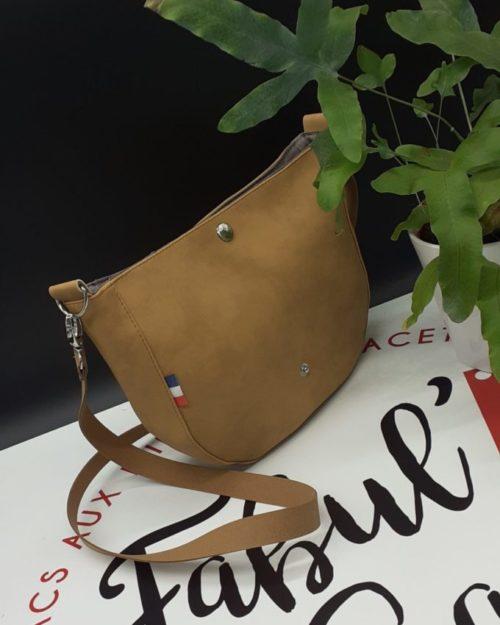 mini sac besace femme safran
