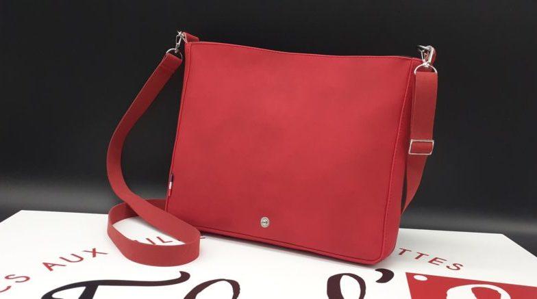 pochette femme rouge
